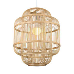 Rustic Loft Woven Pendant Light Cylinder Cage with 47 in Cord Pendant Fixtures $79.99