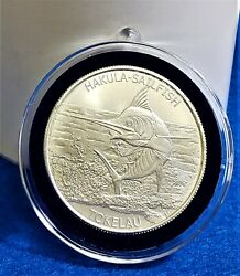 Sailfish 2015 Tokelau .999 Fine  Silver Coin In Decor Capsule $29.95