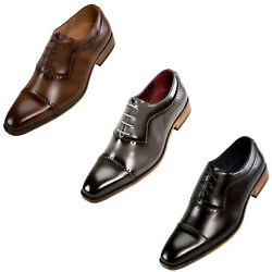 Mens Dress Shoes Oxford Shoes for Men Lace Up Formal Shoes with Cap Toe $19.99