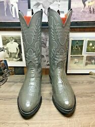 NOCONA EXOTIC RARE GRAY SHARKSKIN 9EE MENS COWBOY BOOTS EXCELLENT CONDITION $199.00