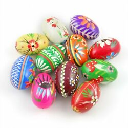 Easter Hand painted Wooden Eggs Pisanki Set of 7 $26.99