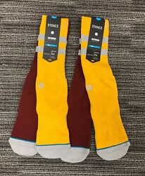 """2 Pairs of Stance Men's Andrew Reynolds Signature Series """"Cosby"""" Socks Large $14.99"""
