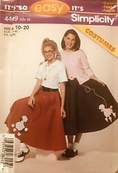 New Simplicity 4409 Circle Poodle Skirts Halloween costumes sewing Pattern 10 20 $9.95