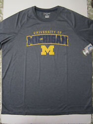 NCAA Michigan Wolverines Champion Impact T Shirt Grey X Large New NWT $10.99