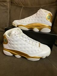 Jordan Retro XIII 13 DMP White Metallic Gold Wheat Playoffs XI VI Sz 10 $239.99