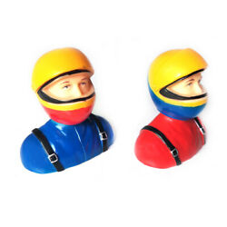 1pc 1 6 Scale RC Plane Pilots Figures Statues RC Kits L64*W40*H69mm Red or Blue $6.49