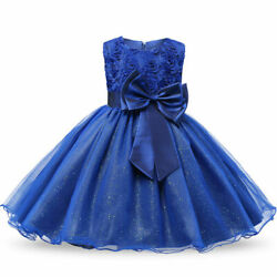 Flower Kids Girls Dress Tulle Wedding Prom Ball Formal Party Dresses Size 3 12 $13.88