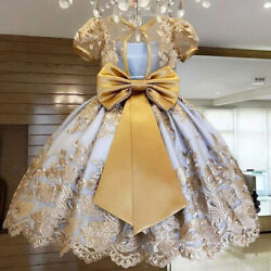 Girls Dress Elegant Princess Children Party Dresses Wedding Ball Gown Fancy Kid $17.98