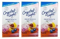 Crystal Light On The Go Fruit Punch Sugar Free Soft Drink Mix 3 Pack $14.95