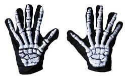 SKELETON GLOVES ADULT COSTUME ACCESSORY $9.95