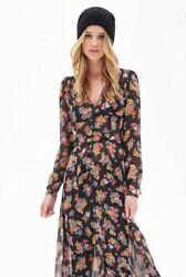 Forever 21 Floral Maxi Dress S $25.00