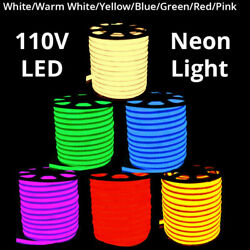 1m - 100m Commercial LED Neon Rope Lights Flex Tube Sign Decorative Outdoor Home $552.69