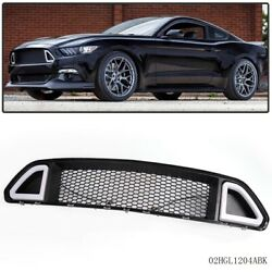 Front Upper Grill Mesh Grille w DRL LED Light For Ford Mustang 2015 2016 2017 $72.29
