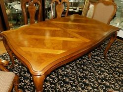 Thomasville British Gentry Burl Dining TABLE ONLY Free White Glove S H MOST USA $1895.00
