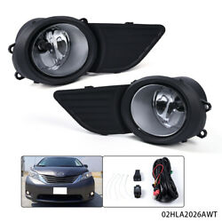 Fits For Toyota 11-17 Sienna Front Clear Fog Lights Driving Lamps Pair+Covers $25.92