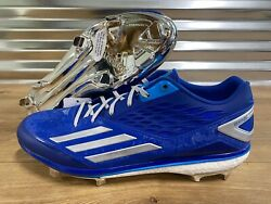Adidas Energy Boost Icon Lorenzo Cain PE Baseball Cleats Blue Silver SZ AQ8402 $17.49