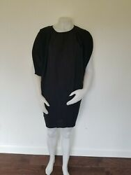 Christian Dior Black Long BlouseShort Dress One Size Fits Most RARE