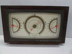 Vintage Taylor Instrument Company desk top Barometer Weather Humidity $39.95
