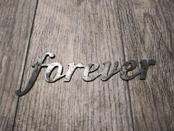 FOREVER Metal Wall Art Word Quote Metal Sign Decor Steel rustic home decor NEW $12.95