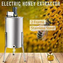 2-Frame Electric Honey Extractor Centrifuge Equipment Drum w Adjustable Stands $189.89