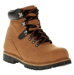Ozark Trail Men#x27;s Red Lace Camping Hiking or Hunting Boot Color Brown $24.99