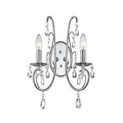 WORLD IMPORTS KOTHARI COLLECTION 2-LIGHT CHROME SCON .MODEL # WI9747-08 $5.99