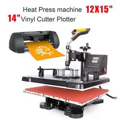 Heat Press Machine 15x12 14 Vinyl Cutter Plotter Business Printer Sublimation $384.00