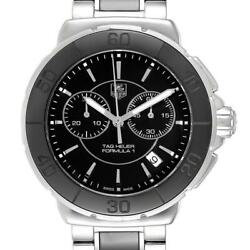 Tag Heuer Formula 1 Chronograph Steel Ceramic Unisex Watch CAH1210