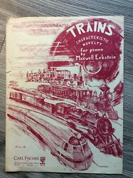 Sheet Music TRAINS Characteristic Novelty for Piano Carl Fischer $5.99