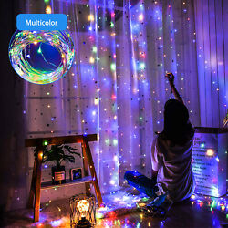 300 LED USB Curtain Fairy Lights String Party Wedding Decors with Remote Control $14.39