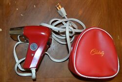 Celebrity Red Petite Dryer amp; Carry Case Vintage 1970s Japan Retro