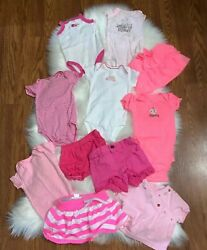 Lot Of 11 Baby Girl Summer Size 3 6 Months One Pieces Shorts Skirts Pink $25.00