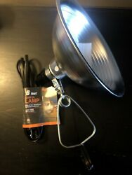 "Clamp On Lamp With 8 1 2"" Aluminum Reflector Polarized. Brand New $8.00"
