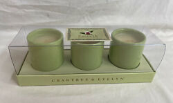 Crabtree & Evelyn Sarawak Exotic Scented Mini Candles Set of 3 Ceramic box NEW $23.95