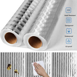 Self Adhesive Oil proof Aluminum Foil Removable Wall Sticker For Kitchen Cabinet $12.97
