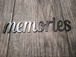 MEMORIES Metal Wall Art Word Quote Metal Sign Decor Steel rustic home decor NEW $12.95