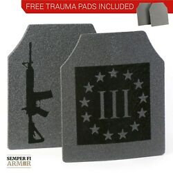 Body Armor AR500 3% Pair of 10x12 Plates          In Stock Immediate Shipping $99.95