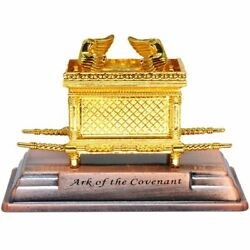 Small Gold Plated Ark of the Covenant Replica Judaica Gift from the Holy Land $12.98