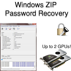 ZIP Password Recovery Software for Windows with GPU Acceleration AU $9.00