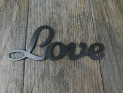 LOVE Metal Wall Art Word Quote Metal Sign Decor Steel rustic home decor new $13.95