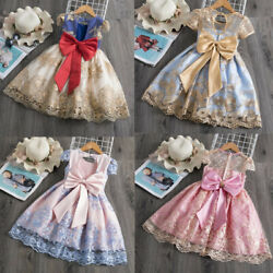 Baby Girls Dress Elegant Princess Children Birthday Party Dress Wedding Gown $17.98