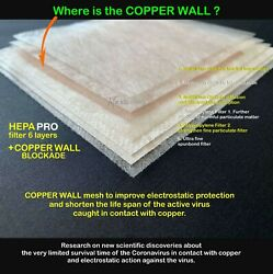 HEPA Filter Copper Wall for Face Mask Replacement PM 0.3 99.97% ✪MADE IN USA✪ $12.99