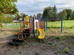 HUGE COMMERCIAL PLAYGROUND 3 SLIDE BRIDGE PARK PLAYSET Preschool KIDS Children $4,000.00