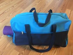 NEW DSW Weekender Gym Travel Carry On Blue Hand bag to Hold Yoga Mat 20quot; x 10quot; $24.99