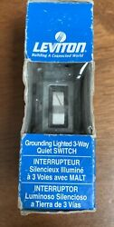 Leviton SWITCH LGT 3WAY GRD WH Quiet Switch NIB