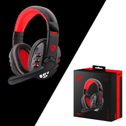 Wireless Gaming Headset with Mic Stereo Bass Surround For PC Laptop Computer Red $23.50