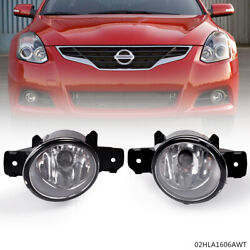 Pair Fog Lights Lamps w H11 bulbs Fit For Nissan Altima Maxima Rogue Sentra