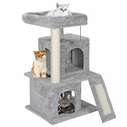 Cat Tree Tower 34quot; STURDY Activity Center Large Playing House Condo For Rest amp; S $40.99
