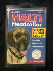 Company of Animals Halti Dog Headcollar Stops Pulling Kindly Black Size 5 NIP $16.95