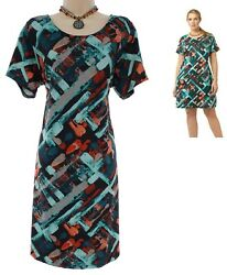 1X 16 SEXY Womens GORGEOUS WATERCOLOR PRINT SHIFT DRESS Spring Summer PLUS SIZE $49.99